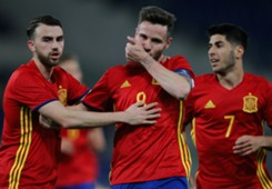 Niguez Saul Marco Asensio Borja Mayoral Italy U21 Spain U21 Youth Friendly 03272013