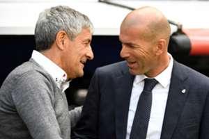 Setien Zidane Real Madrid Betis LaLiga