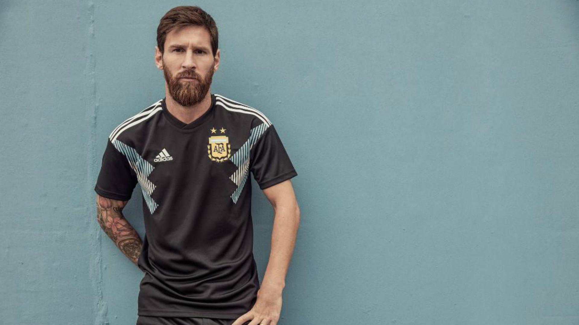 Lionel Messi Argentina Camiseta Alternativa Away Kit 2018