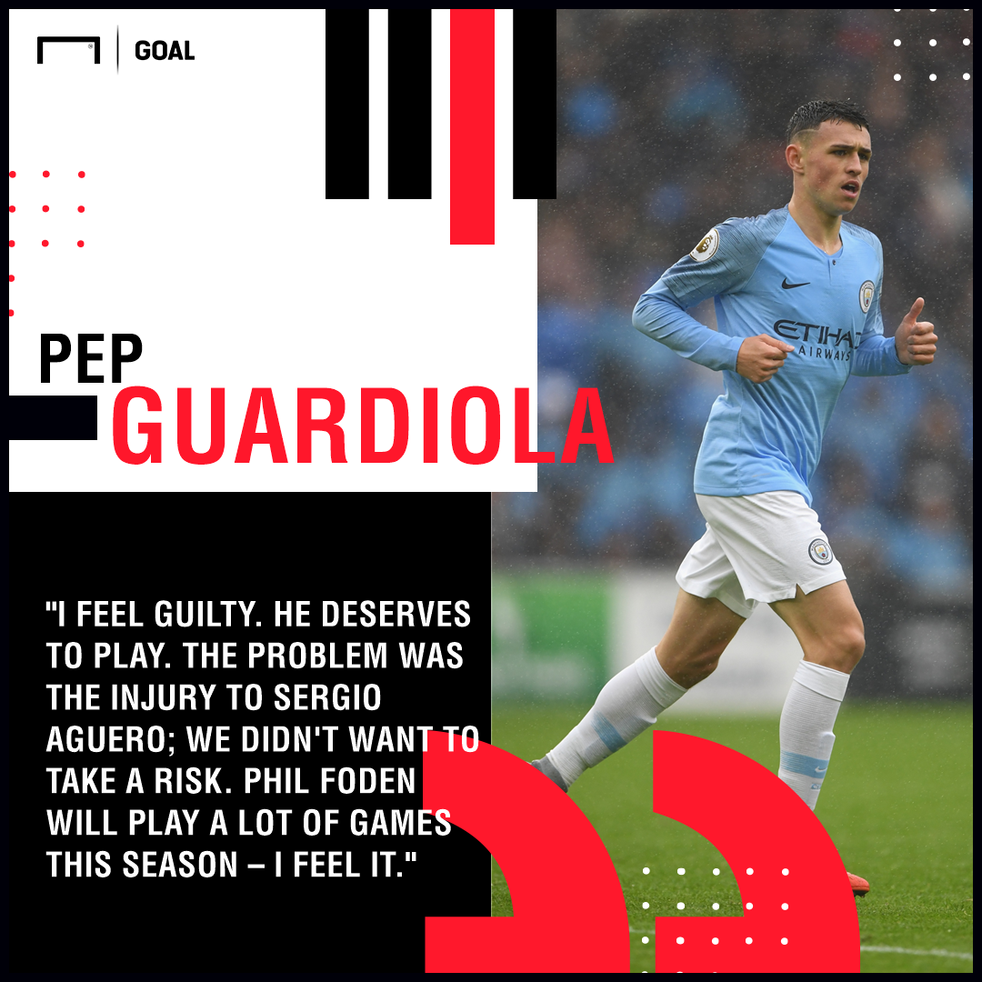 Phil Foden Pep Guardiola PS