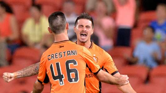 Jamie Maclaren Brisbane Roar v Wellington Phoenix A-League 16042017