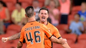 Jamie Maclaren Brisbane Roar v Wellington Phoenix A-League 16042017
