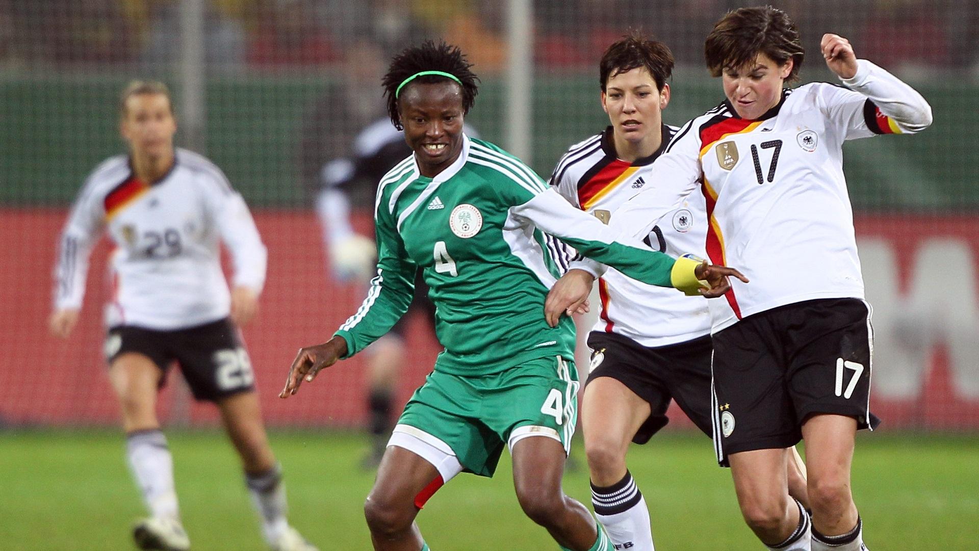 Perpetua Nkwocha of Nigeria vs. Germany