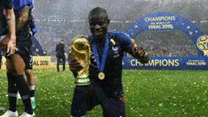 N'Golo Kante France World Cup trophy
