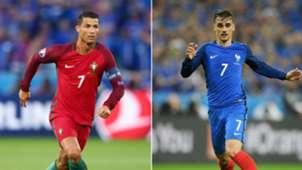 Cristiano Ronaldo Antoine Griezmann Portugal France Euro 2016