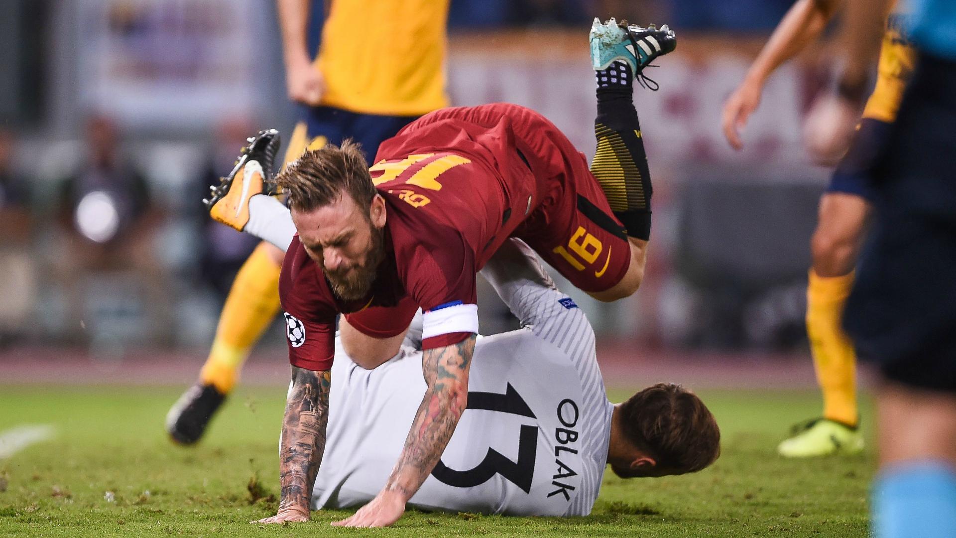 De Rossi Oblak Roma Atletico Madrid Champions League