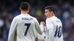 Cristiano Ronaldo James Rodriguez Real Madrid