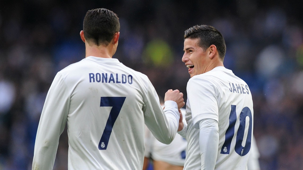 Image result for james rodriguez with cristiano ronaldo