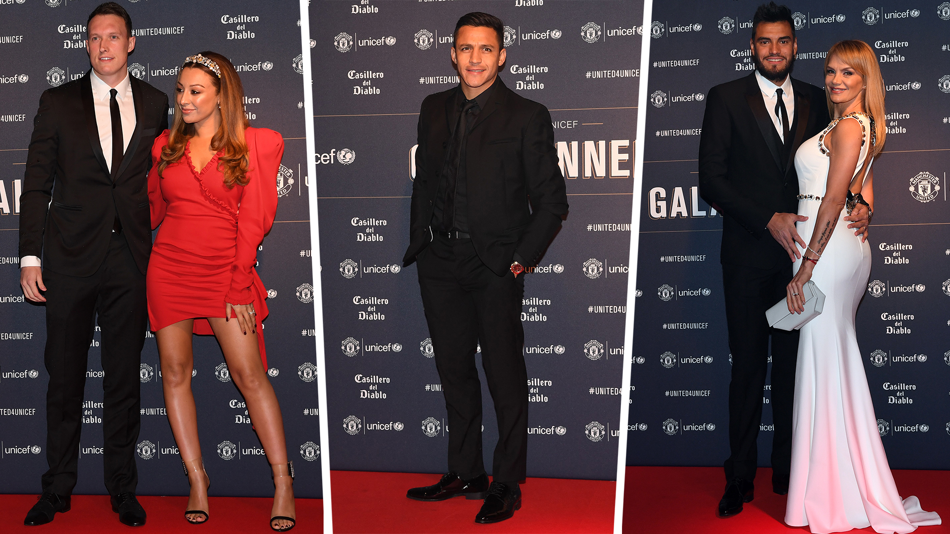 Phil Jones Kaya Jones Alexis Sanchez Sergio Romero Eliana Guercio Man Utd 2019
