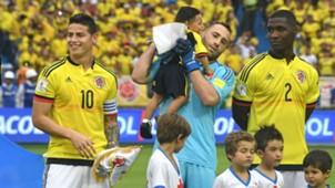 James Rodríguez, David Ospina y Cristian Zapata Colombia