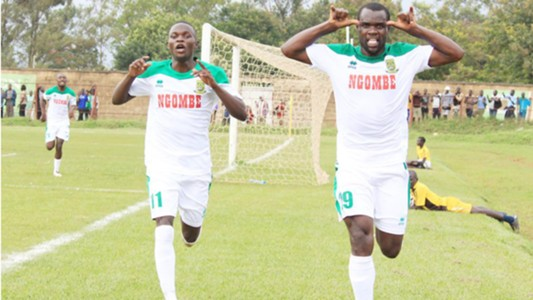 Mathare United striker Chrispin Oduor in Awendo.
