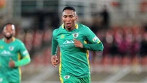 Mpho Kgaswane of Baroka celebrates goal