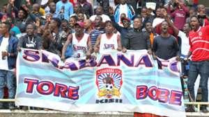 Shabana FC fans at Kasarani.