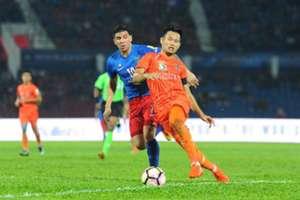 Fauzan Dzulkifli PKNS Brian Ferreira Johor Darul Ta'zim Malaysia Super League 15042017