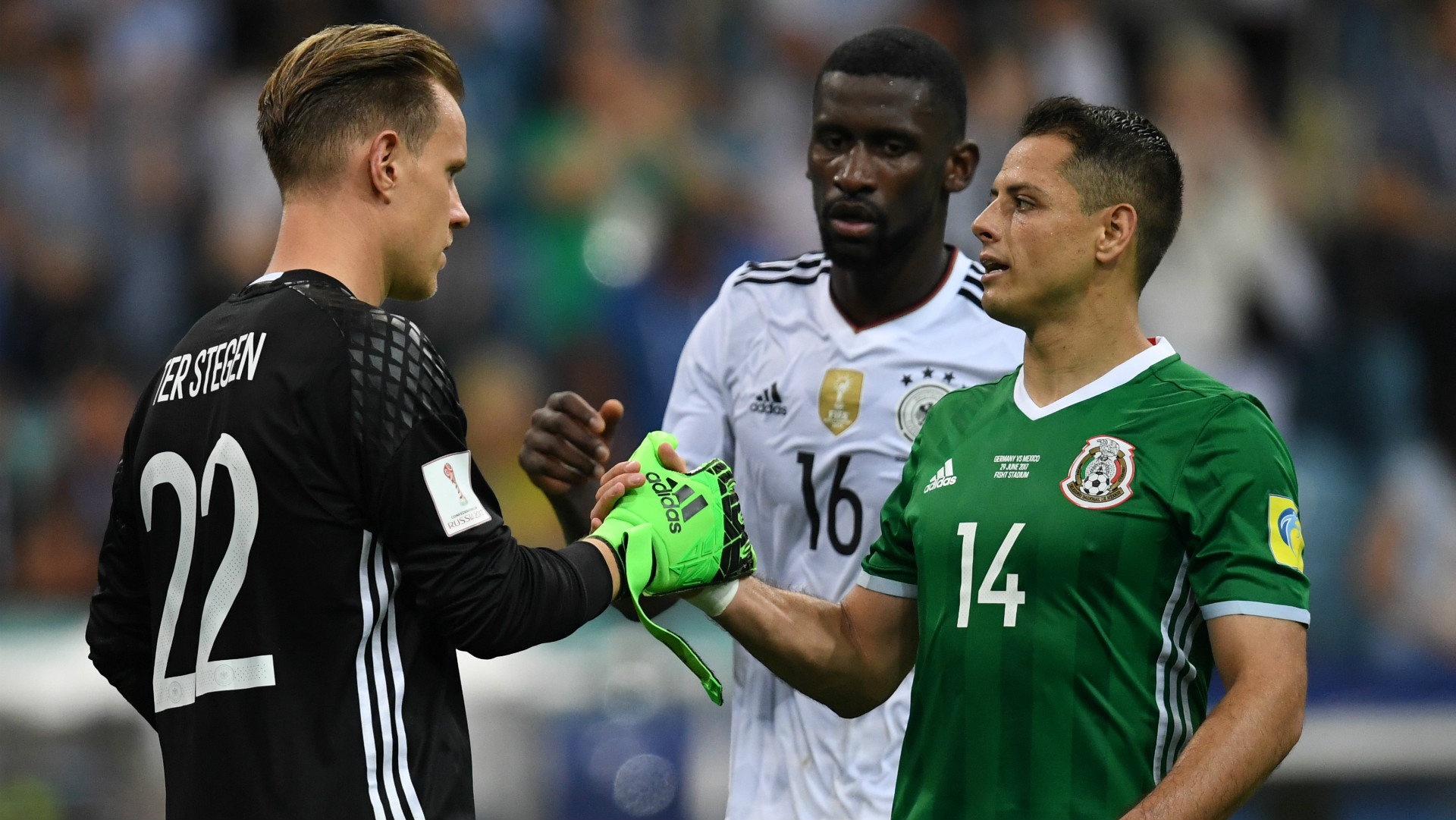 Marc Andre ter Stegen Germany Javier Hernandez Chicharito Mexico