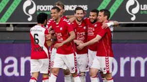 Zakaria Labyad, Willem Janssen, Ramon Leeuwin, Excelsior vs. FC Utrecht, 04042017