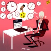 CARTOON Auba leaves Wenger sweating