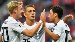 Julian Brandt Nils Petersen Mesut Ozil Germany 2017-18