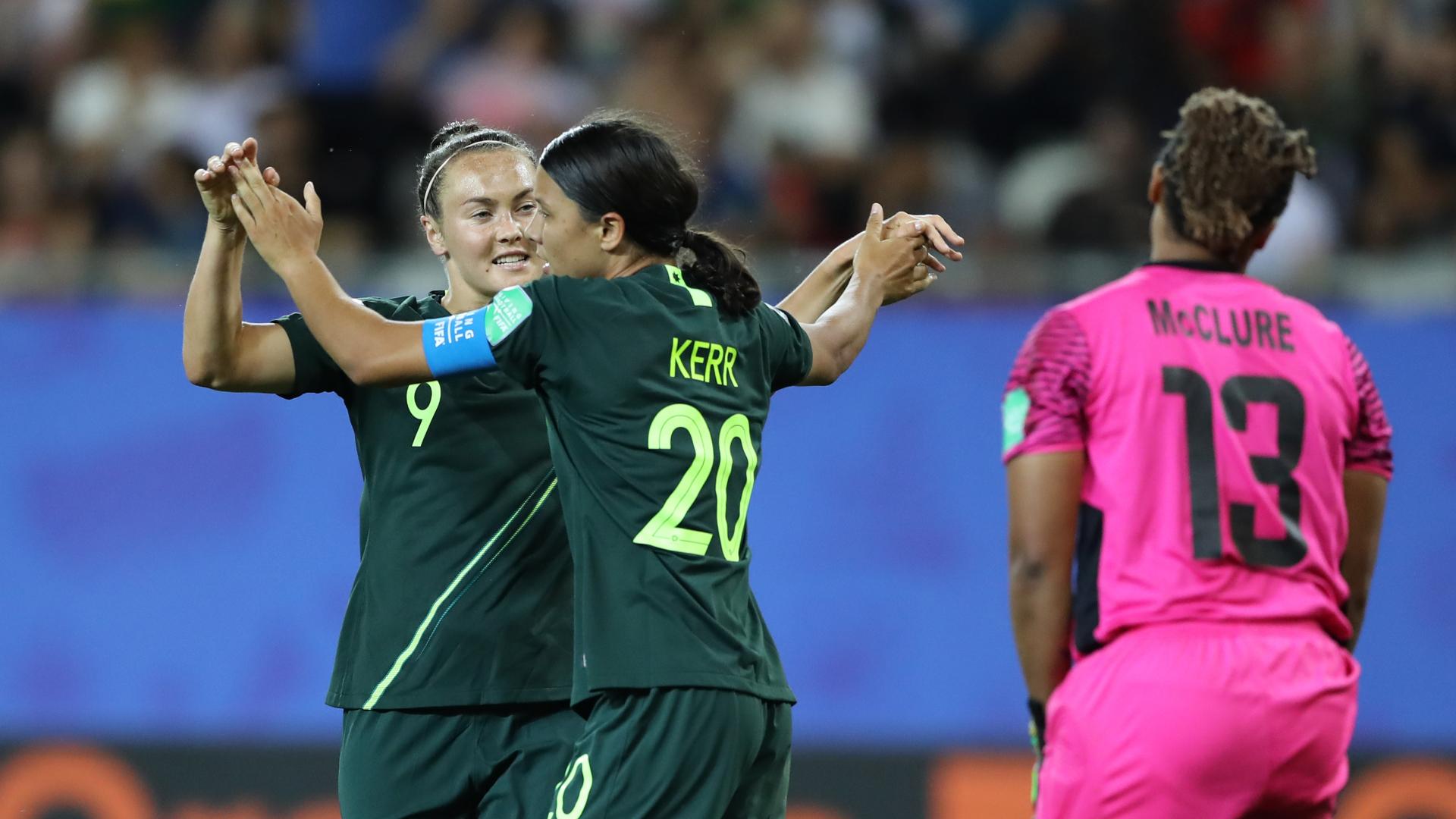 Matildas star Kerr receives stunning praise from opposition coach