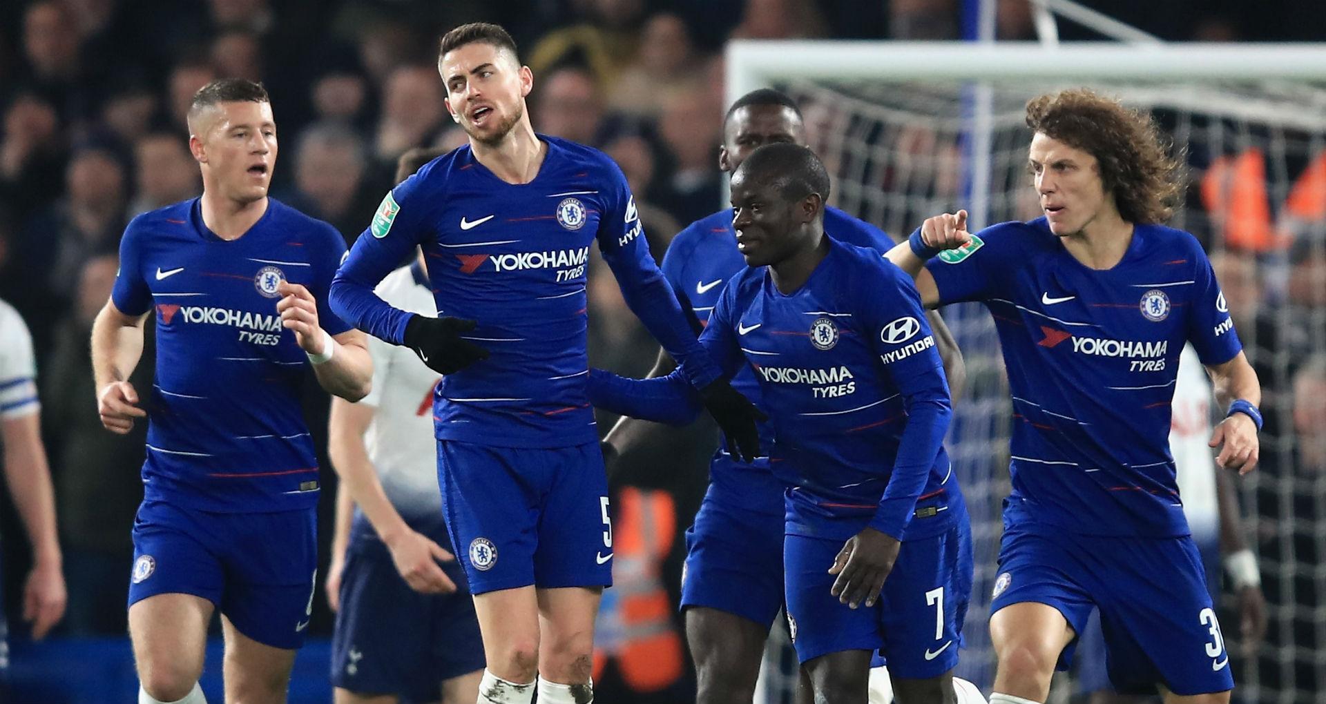 Ross Barkley Jorginho N'Golo Kante David Luiz Chelsea 2018-19