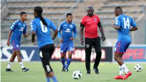 Kaitano Tembo and SuperSport United players