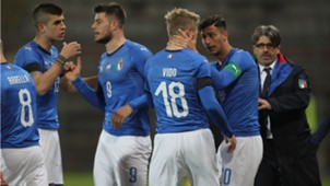 Luca Vido goal Italy Norway U21