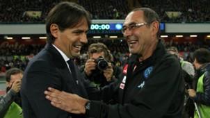 Simone Inzaghi Maurizio Sarri Napoli Lazio Serie A 2016-17