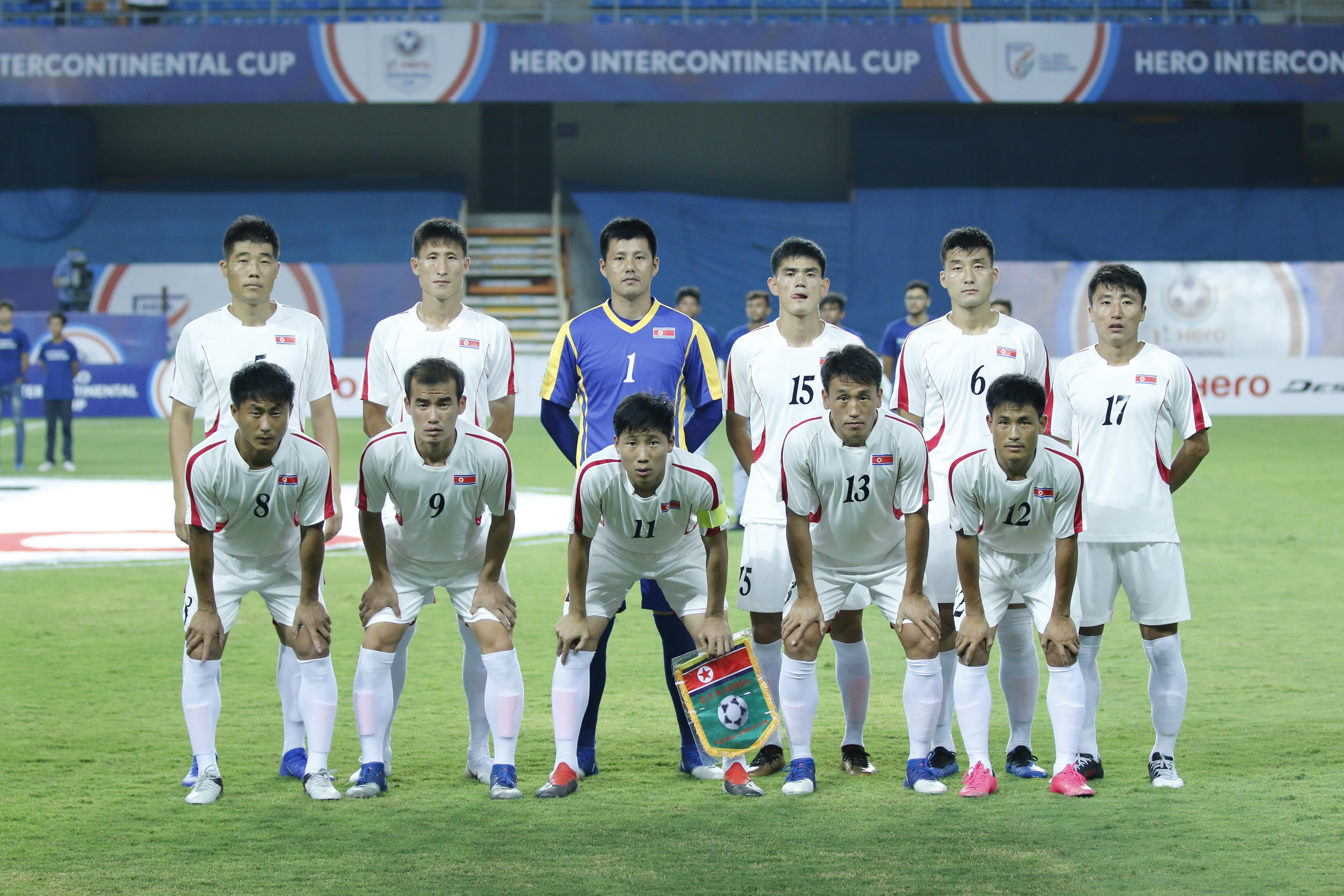 North Korea Football Team InterContinental Cup 2019