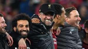 Jurgen Klopp Mohamed Salah Liverpool Barcelona Champions League
