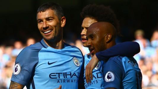 Aleksandar Kolarov Leroy Sane Fabian Delph Manchester City