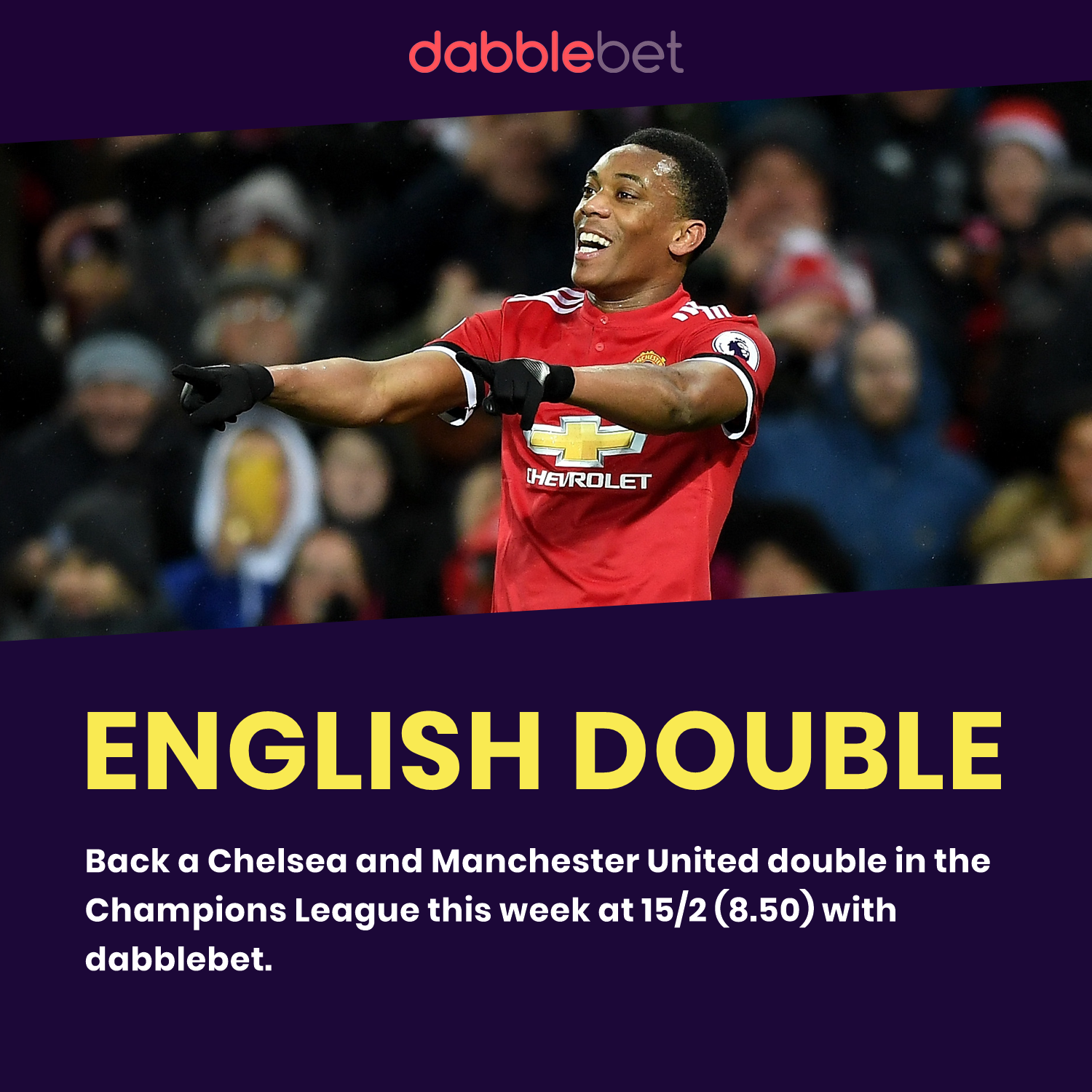 Man United Chelsea double graphic