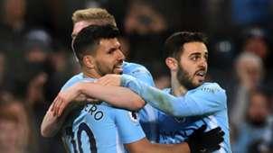 Sergio Aguero, Bernardo Silva, Manchester City