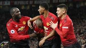 Manchester United Rashford Lukaku Young Rojo 08122018