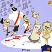 River Plate Boca cartoon