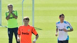 Iker Casillas Angel Di Maria Jose Mourinho Real Madrid