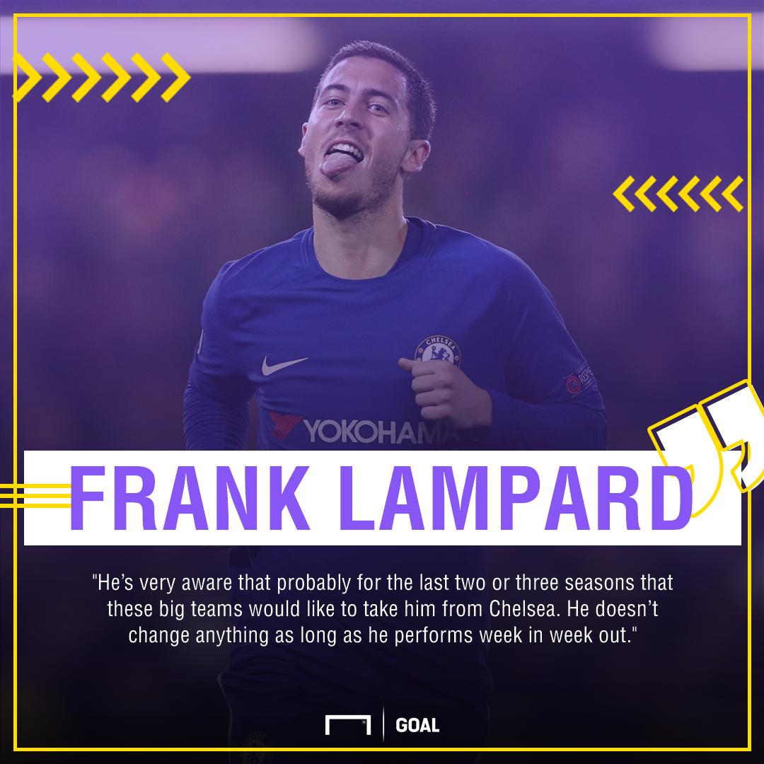 Frank Lampard Eden Hazard Chelsea interest