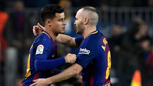 Philippe Coutinho Andres Iniesta Barcelona