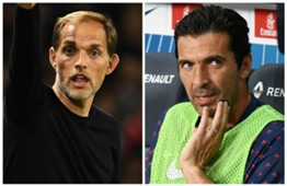 Thomas Tuchel Gianluigi Buffon PSG Paris Saint-Germain 2018-19