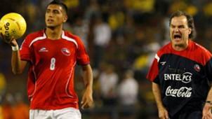 Arturo Vidal y Marcelo Bielsa. Chile