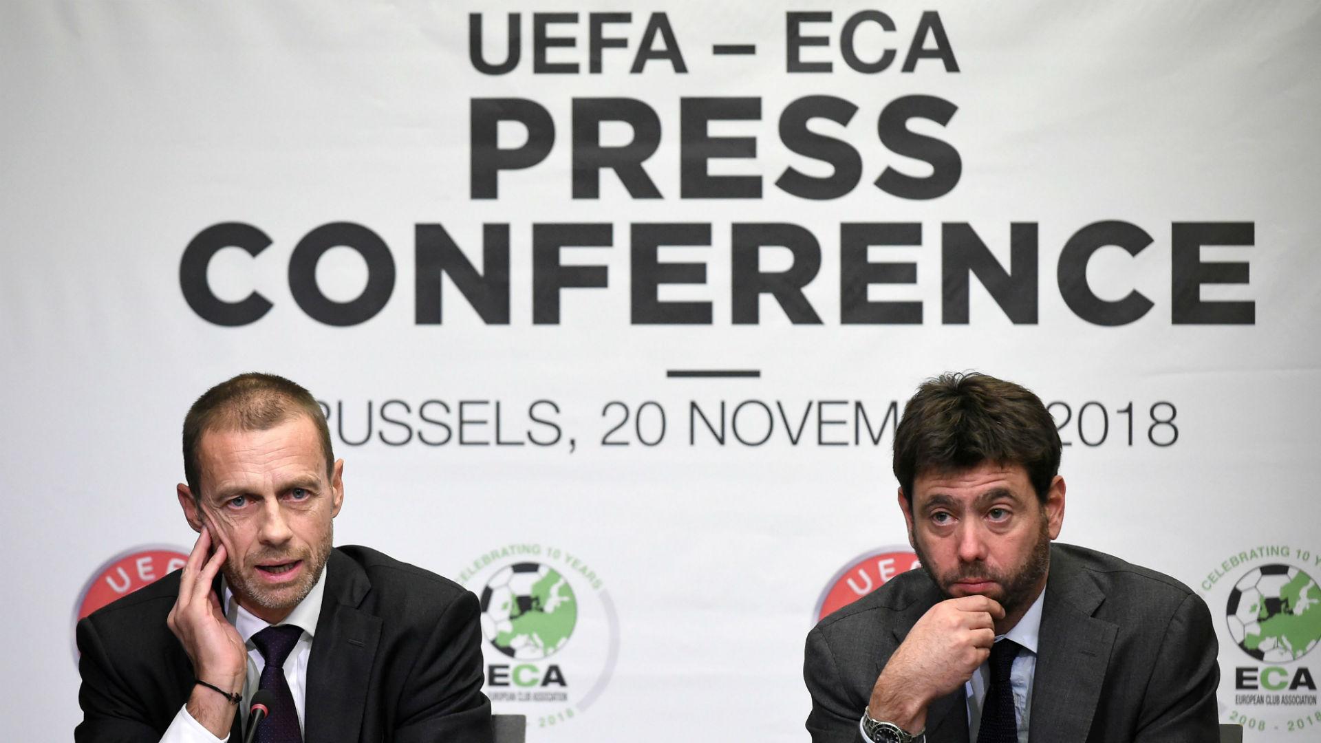 Aleksander Ceferin UEFA Andrea Agnelli ECA 2018