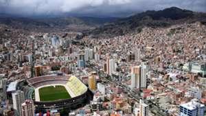 Hernando Siles stadium La Paz bolivia view