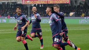 Crotone celebrating Benevento Serie A