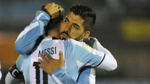 Lionel Messi Luis Suarez Argentina Uruguay World Cup qualifying