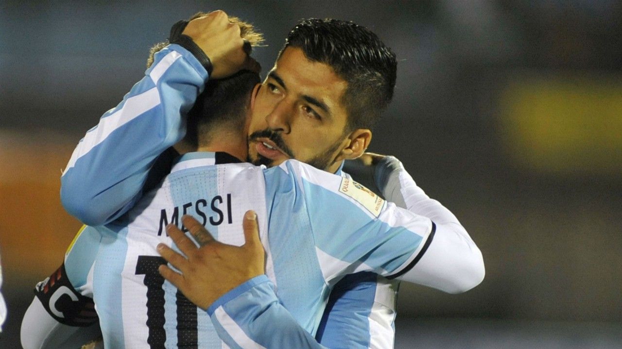 Картинки по запросу Messi and Suarez Argentina uruguay