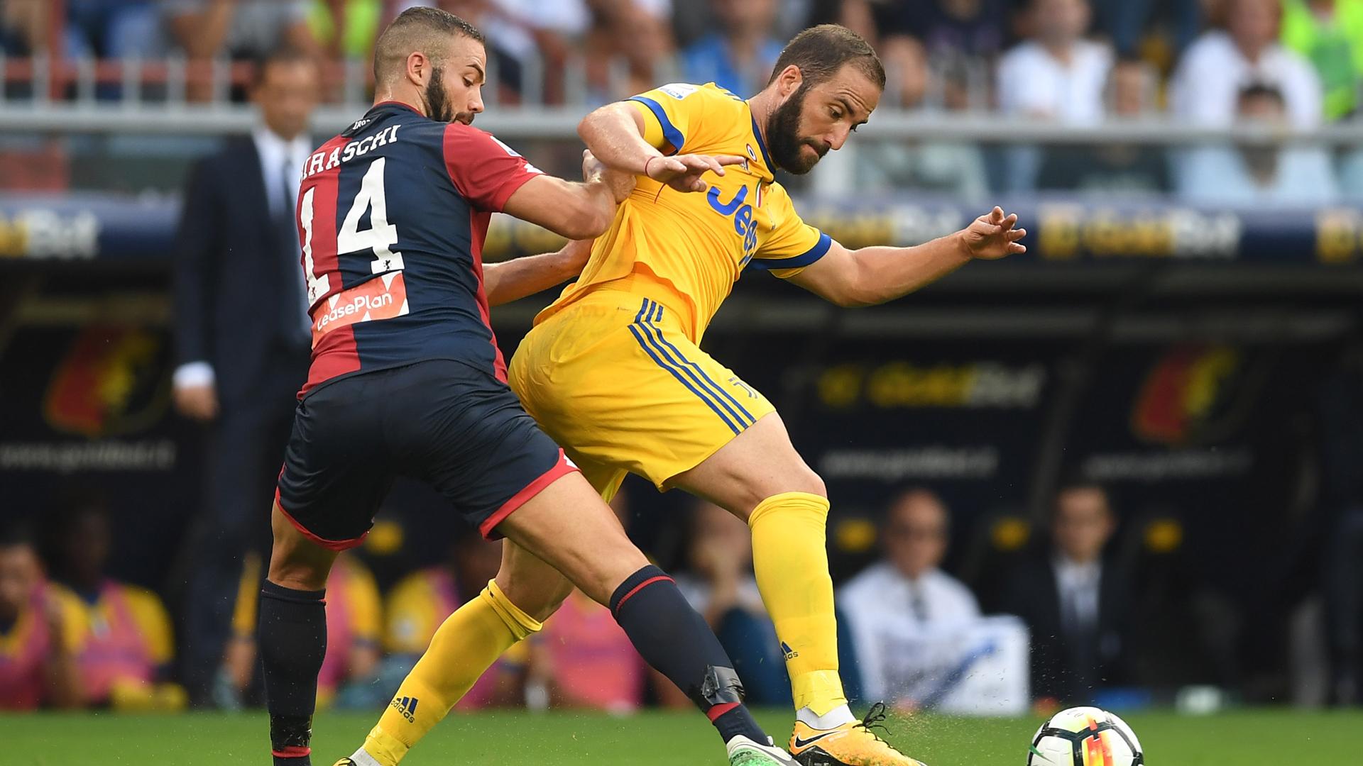 Juventus Turin CFC Genua Gonzalo Higuain Davide Biraschi 26082017