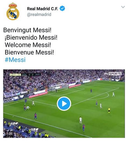 Messi au Real