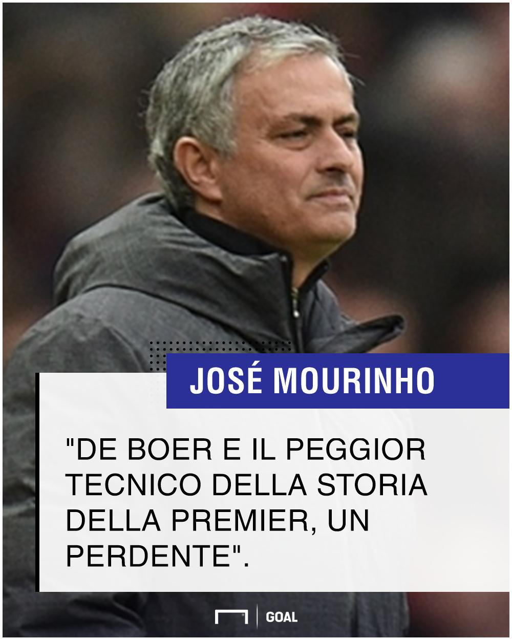 Mourinho risponde a De Boer: 'Il peggiore nella storia della Premier'