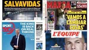 Zidane Real Madrid portadas