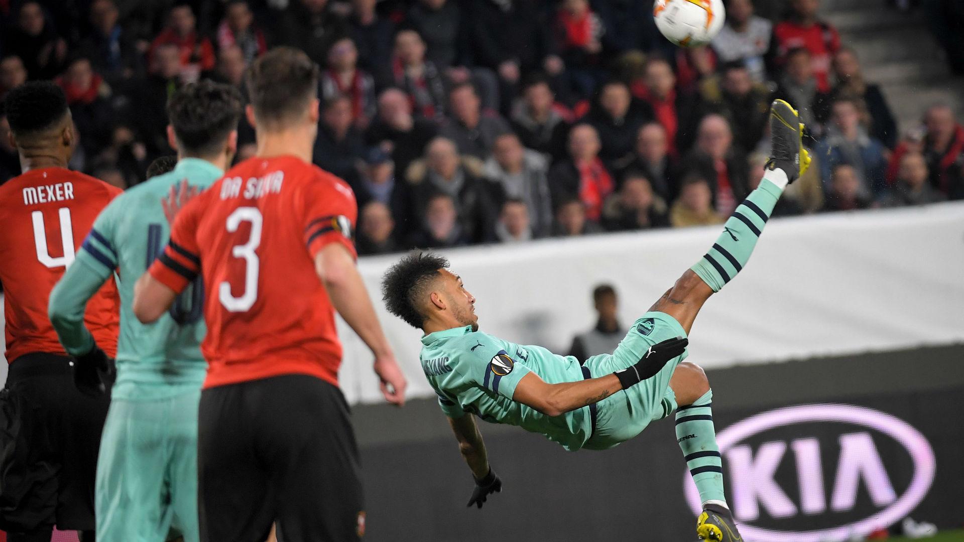 Pierre-Emerick Aubameyang Rennes Arsenal UEFA Europa 07032018