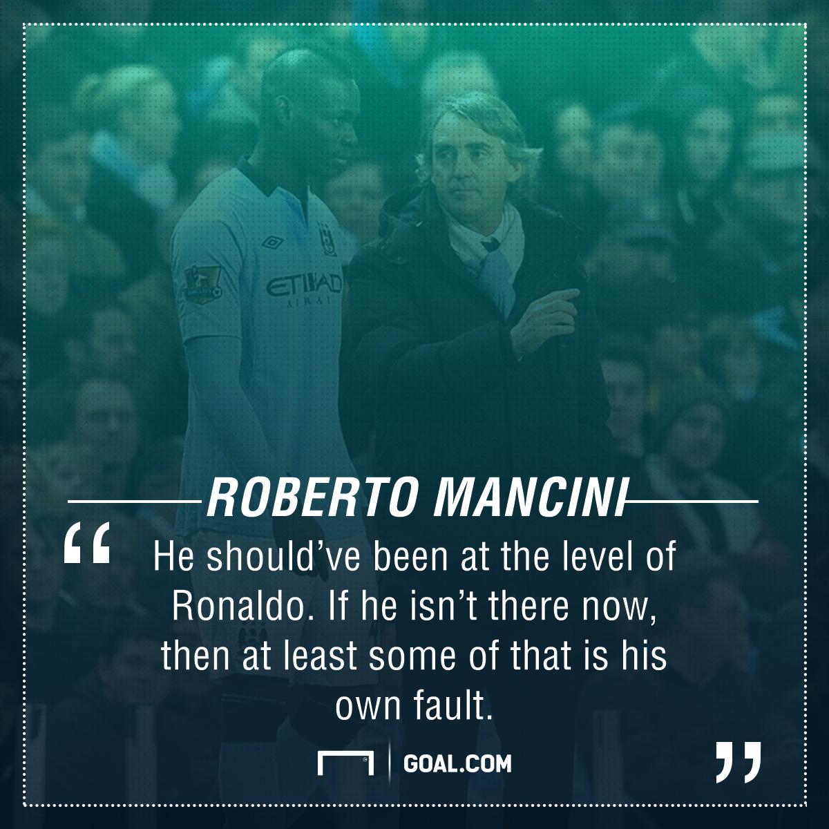Roberto Mancini Mario Balotelli